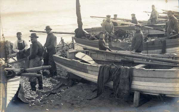 Another Good Catch.  Longshore Fishermen on Southwold Beach