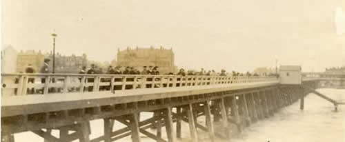 View from the end of the pier in 1907
