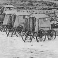 Bathing Machines on Southwold Beach