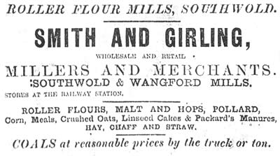 Advertisement for  Smith & Girling's range of merchant products