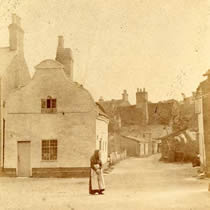 The cottages in the late 19th century