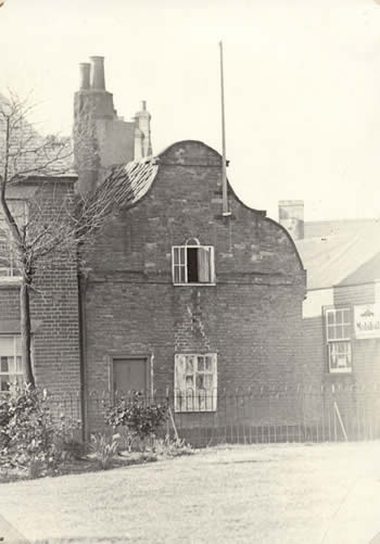1930s view of the cottages from Bartholomew Green