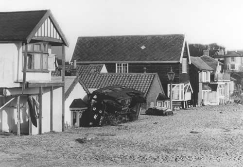 Southwold's Red Cross Ambulance had been turned over onto its side in Ferry Road