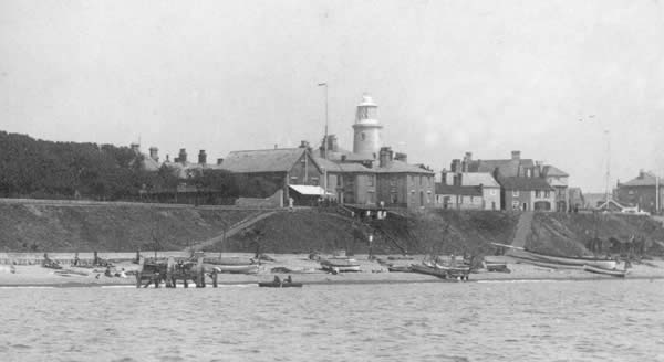 The Lighthouse from the sea, opposite Centre Cliff in 1892