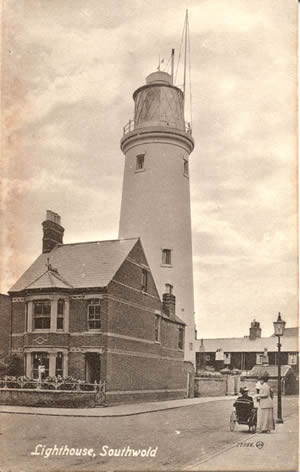 Southwold Lighthouse in approx 1910