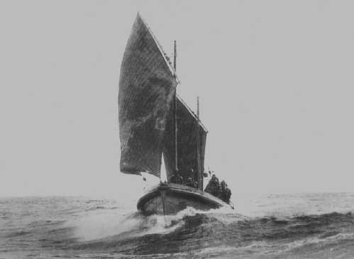 The Alfred Corry under sail