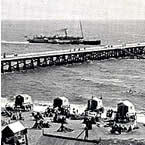 Paddle Steamer at Southwold Pier early 1900s