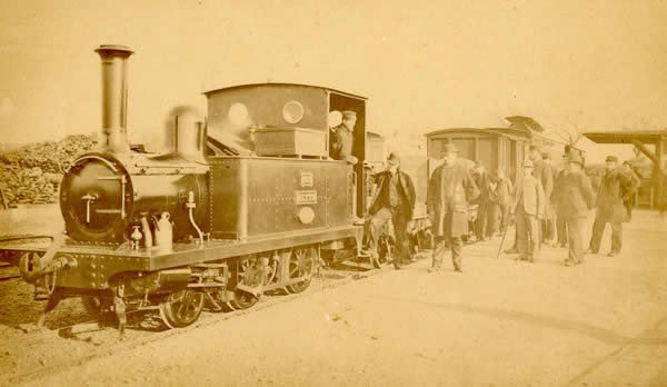 Representatives of the Japanese Railway Compant visit Southwold Station in 1887