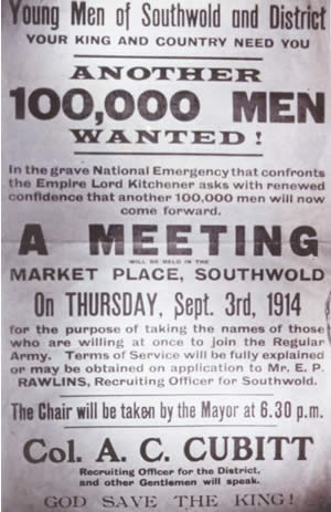 Poster encouraging  young men to enlist in the Regular Army - 1914
