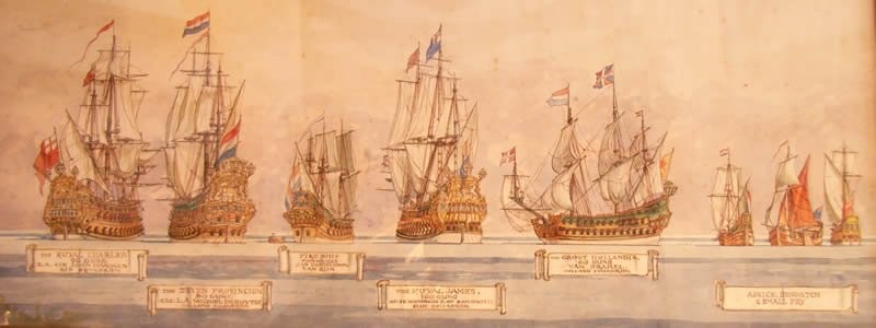 Ships at the Battle of Sole Bay