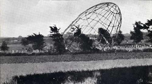 Burnt-out Zeppelin at Theberton