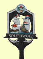 Southwold Town Sign, designed by Clifford Russell. Click to enlarge.